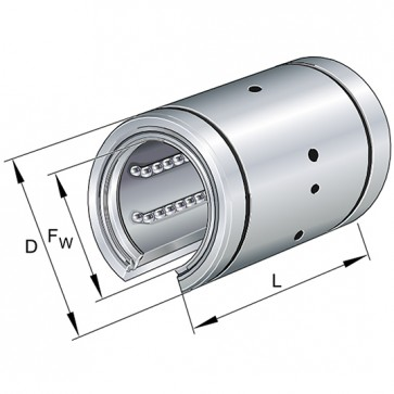 Шарикоподшипники KBO20-PP-AS