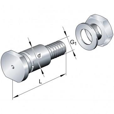 Центрические цапфы LFZ12x45-A1